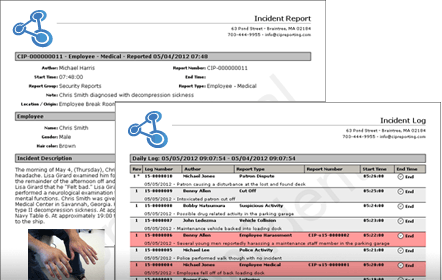 Incident Reporting Example Reports