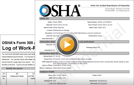 healthcare reporting software example osha